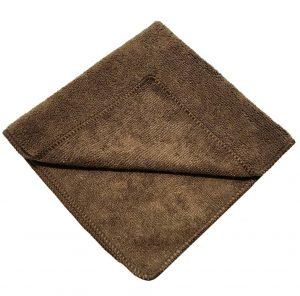 dark brown microfiber cloth