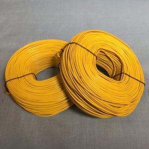 yellow pvc rebar tie wire