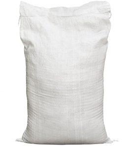 White woven polypropylene bag