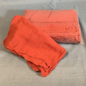 red shop towels cotton